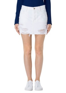 J Brand Bonny Cutoff Denim Miniskirt (Distract)