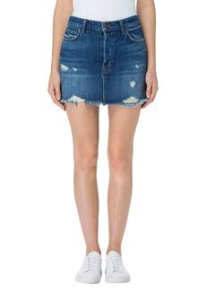 J Brand Bonny Cutoff Denim Miniskirt (Hoxton)