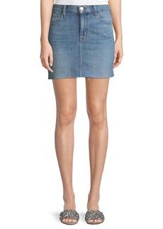 J Brand Bonny Mid-Rise A-Line Mini Denim Skirt