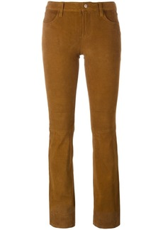 J Brand bootcut suede trousers - Nude & Neutrals