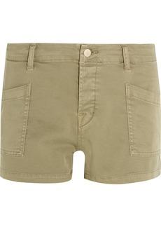 J Brand Brona cotton-blend twill shorts