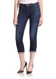 J BRAND Caitland Mid-Rise Rolled Slim Boy-Fit Jeans