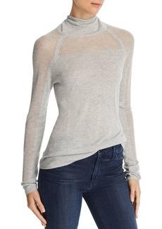 J Brand Carlyn Openwork Turtleneck Sweater