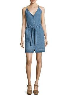 J Brand Carmela Chambray Button-Front Dress