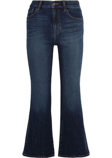 J Brand Carolina cropped high-rise flared jeans