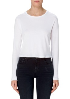 J Brand Carolina Long Sleeve Crop Tee