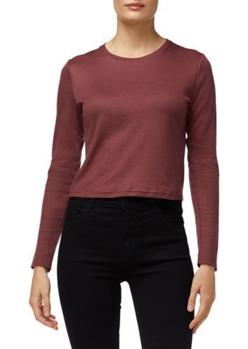 J Brand Carolina Long-Sleeve Crop Tee