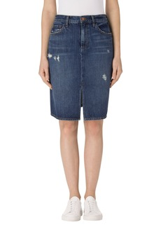 J Brand Carolina Super High Waist Denim Skirt (Kingsland)