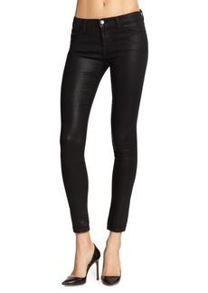 J BRAND Coated-Tencel Skinny Jeans
