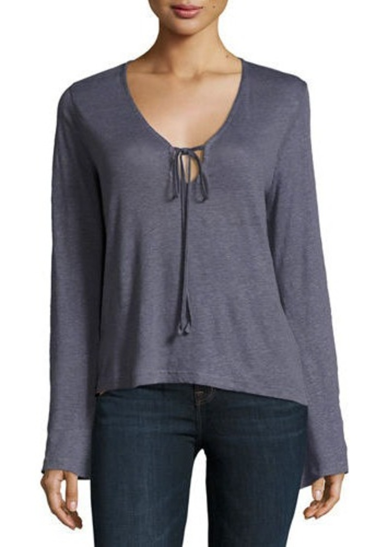 J Brand J Brand Constance Long-Sleeve Cotton Top | Casual Shirts ...