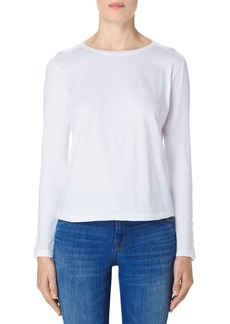 J Brand Crete Button Sleeve Cotton Tee