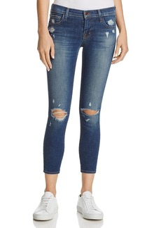 J Brand Crop Skinny Jeans in Affinity Destruct - 100% Exclusive