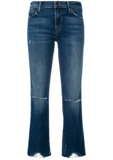 J Brand cropped distressed jeans