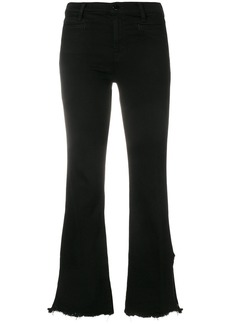J Brand cropped flared jeans - Black