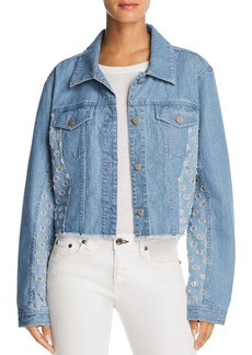 J Brand Cyra Cropped Denim Jacket in Ambitious