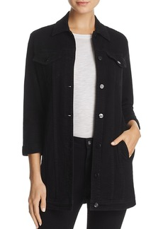 J Brand Denim Maxi Jacket in Pitch Black