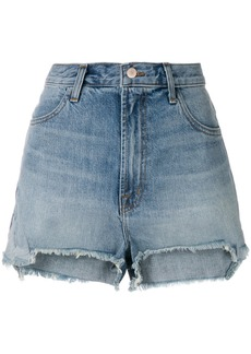 J Brand high-rise frayed denim shorts