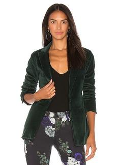 J Brand Denise Velveteen Blazer in Green. - size L (also in M,S,XS)