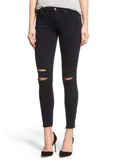 J Brand Destroyed Crop Skinny Jeans (Blue Mercy)