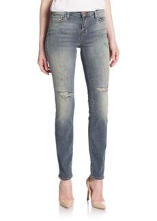 J BRAND 811 Mid-Rise Distressed Skinny Jeans