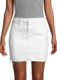 J Brand Distressed Stretch Mini Skirt