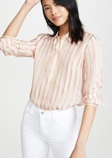 J Brand Elena Open Back Shirt
