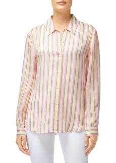 J Brand Elena Striped Long-Sleeve Button-Back Shirt