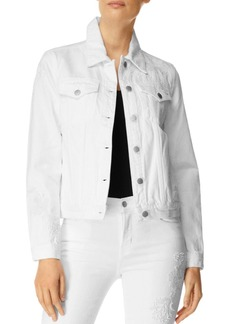 J Brand Embellished Slim Denim Jacket in Estella