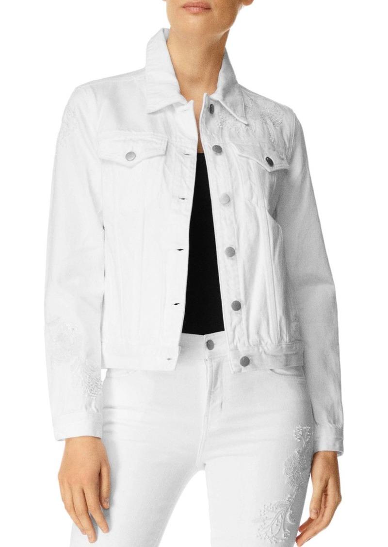 J Brand Embellished Slim Denim Jacket in Estella
