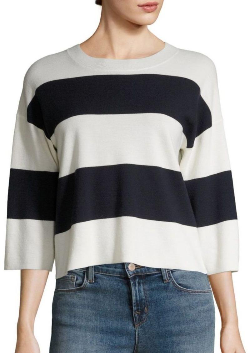 J BRAND Estero Striped Merino Wool Sweater