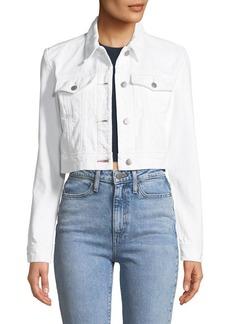J Brand Faye Button-Down Cropped Denim Jacket