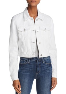 J Brand Faye Cropped Denim Jacket in White