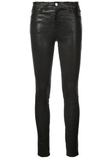 J Brand fitted leather trousers - Black