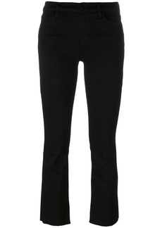 J Brand flared cropped jeans - Black
