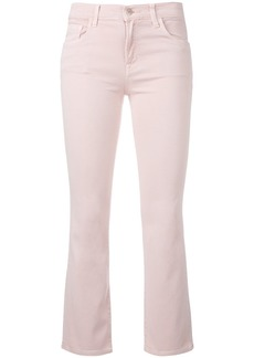 J Brand flared cropped jeans - Pink & Purple