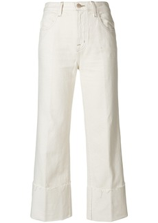 J Brand flared cropped jeans - White