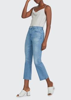 J Brand Franky High-Rise Crop Boot-Cut Jeans