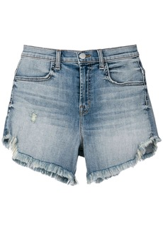 J Brand frayed denim shorts - Blue