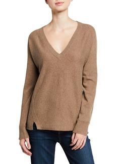 J Brand Gabbie Cashmere-Merino V-Neck Sweater