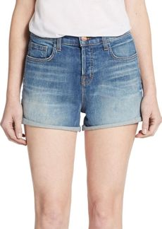 J BRAND Gracie High-Rise Cuffed Denim Shorts