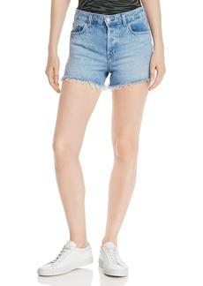 J Brand Gracie High-Rise Cutoff Denim Shorts in Aerglo
