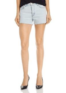 J Brand Gracie High-Rise Cutoff Denim Shorts in Outcast