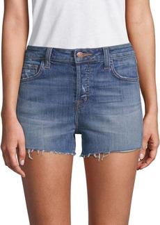 J Brand Gracie High-Rise Frayed Denim Shorts
