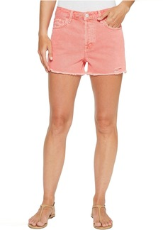 J Brand Gracie High-Rise Shorts w/ Raw Hem in Glowing Blossom