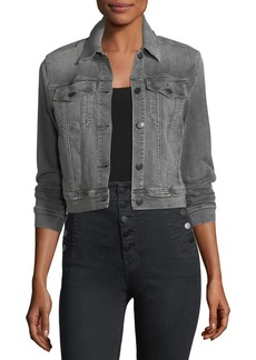 J Brand Harlow Button-Front Shrunken Denim Jacket
