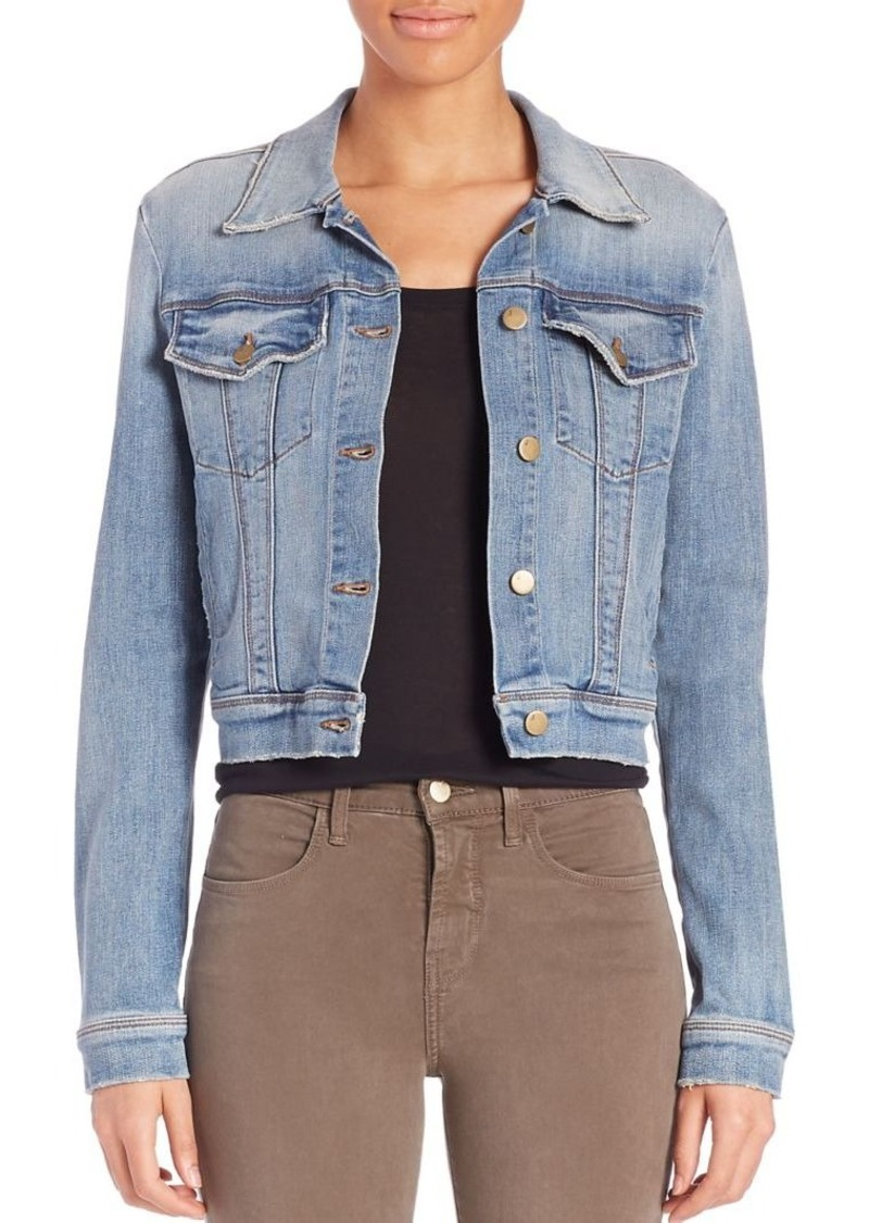 J Brand Harlow Trucker Cropped Denim Jacket