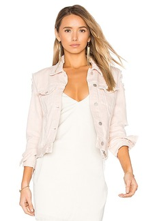 J Brand Harlow Distressed Jacket. - size L (also in M,S,XS)