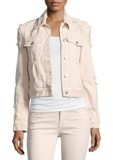 J Brand Harlow Distressed Jean Jacket