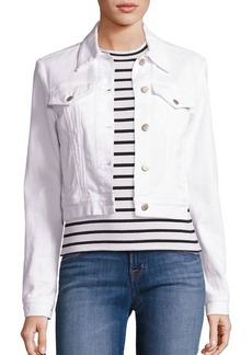 J Brand Harlow Shrunken Cropped Denim Jacket