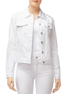 J Brand Harlow Shrunken Denim Jacket in White